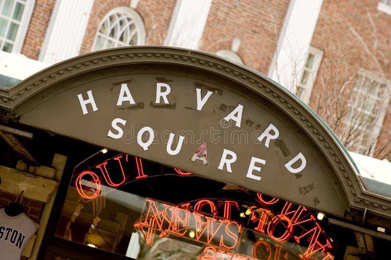 哈佛广场 免版税库存照片