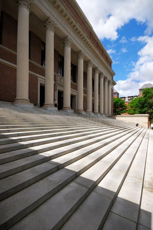 哈佛l大学widener 免版税图库摄影