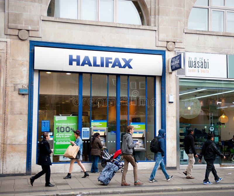 哈利法克斯银行分行在伦敦 库存图片