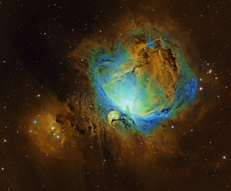 哈勃空间望远镜中的猎户座大星云 库存图片