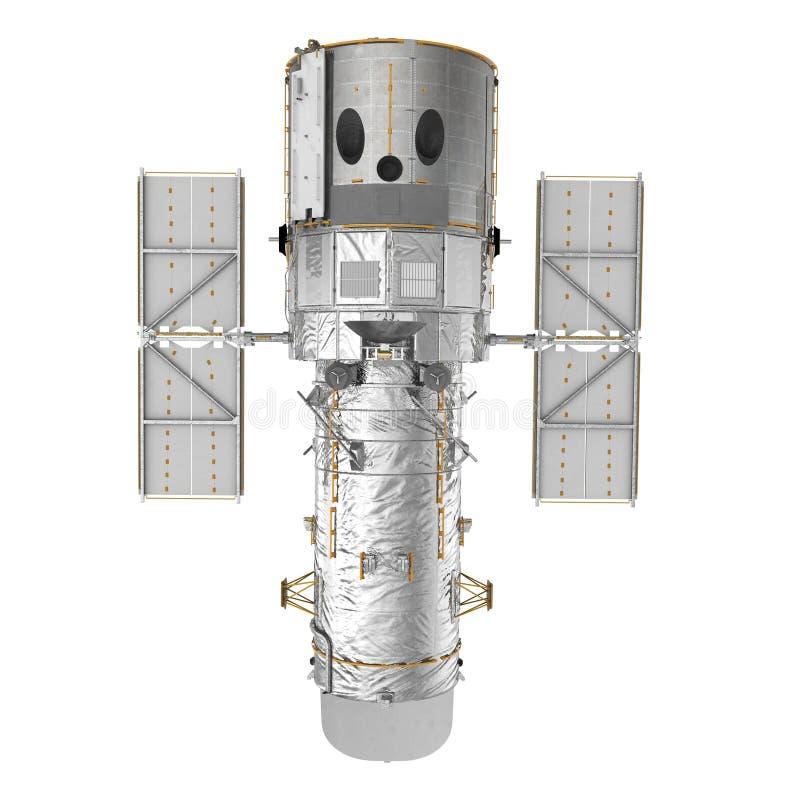 哈勃空间望远镜在白色Backgrouns隔绝了 3d例证 库存例证