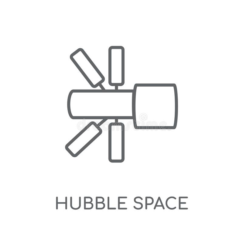 哈勃空间望远镜线性象 现代概述哈勃空间 向量例证
