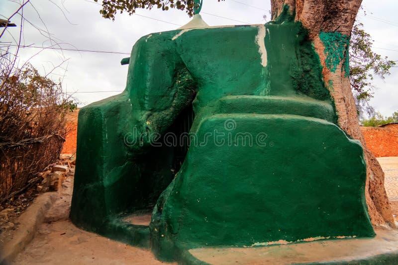 哈勒尔树清真寺在Jugol老市,哈勒尔,埃塞俄比亚 免版税库存图片