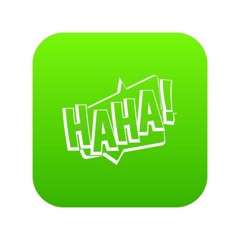 哈哈,可笑的文本音响效果象数字式绿色 向量例证