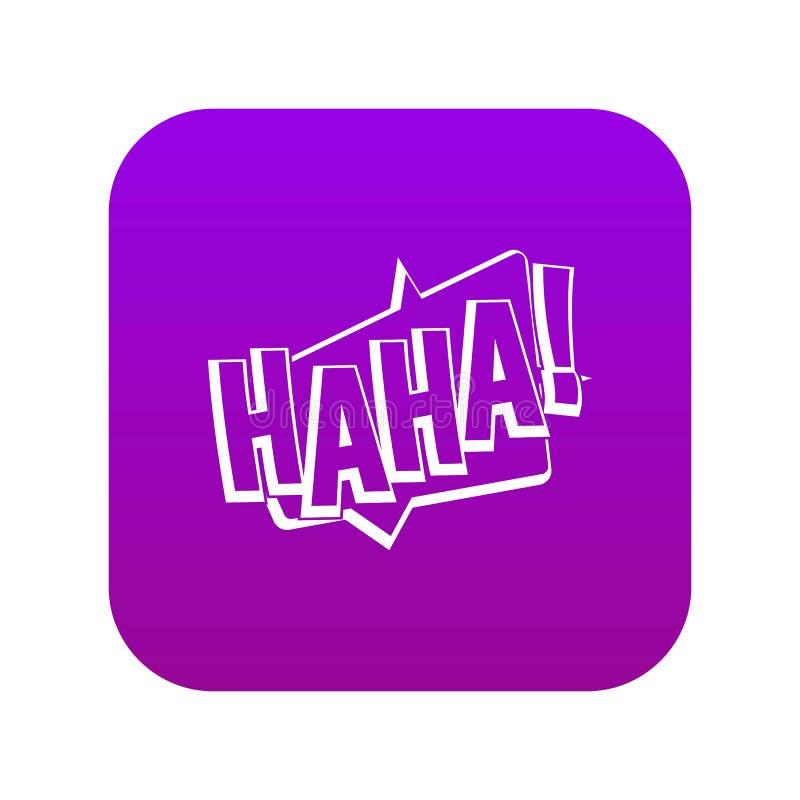 哈哈,可笑的文本音响效果象数字紫色 皇族释放例证
