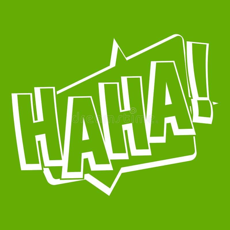 哈哈,可笑的文本音响效果象绿色 向量例证