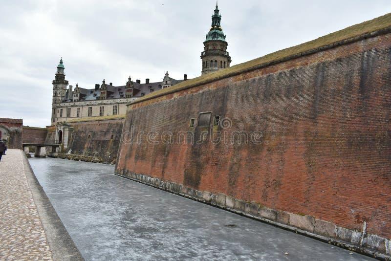 哈姆雷特-克伦堡城堡的家 丹麦 免版税库存照片