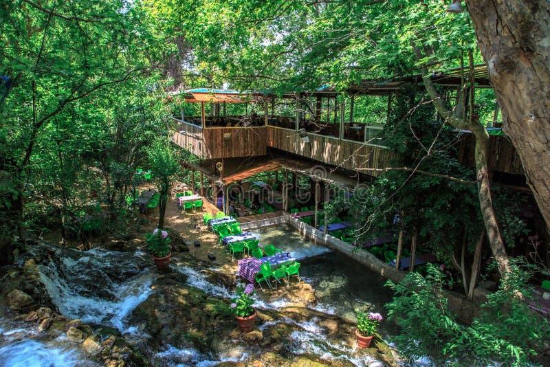 哈尔比耶瀑布 库存照片