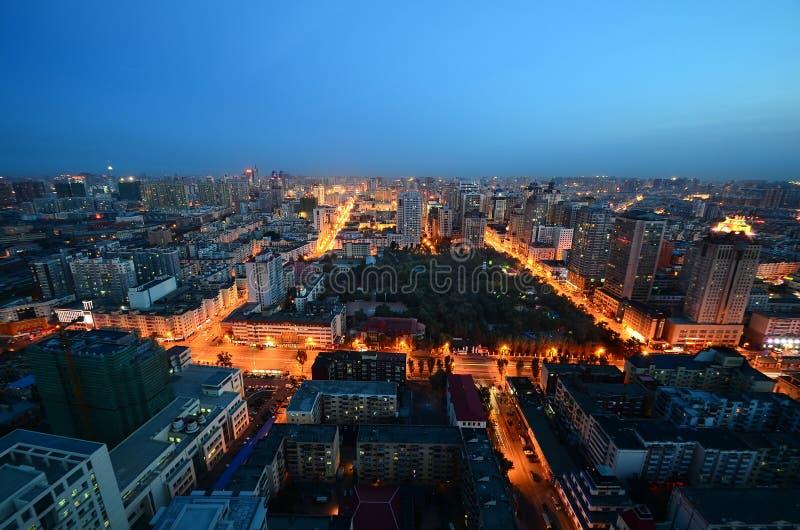 哈尔滨晚上  免版税库存照片