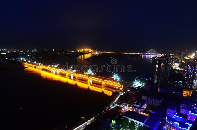 哈尔滨晚上  库存图片