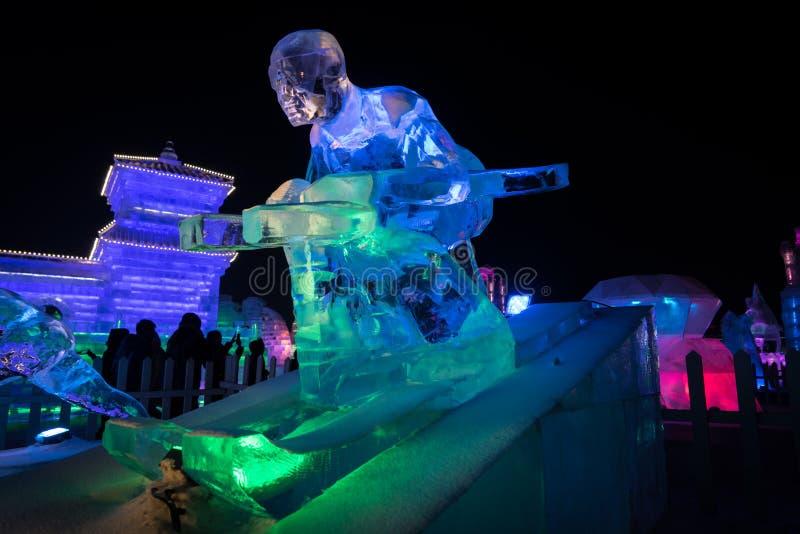 哈尔滨滑雪者 库存照片