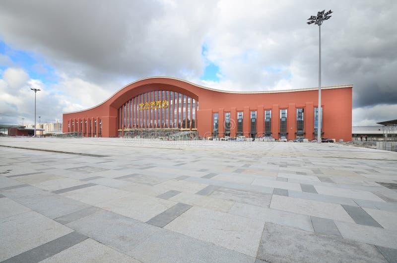 哈尔滨西方火车站 免版税图库摄影