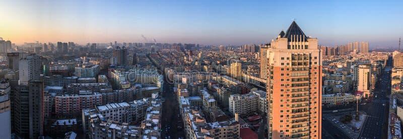 哈尔滨,中国鸟瞰图  免版税图库摄影