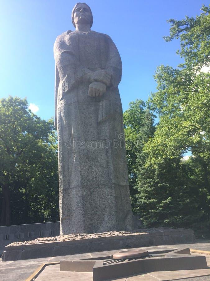哈尔科夫乌克兰妇女雕塑 图库摄影