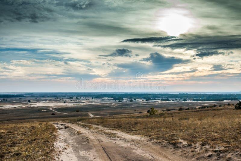哈尔科夫沙漠风景看法在秋天 免版税库存照片