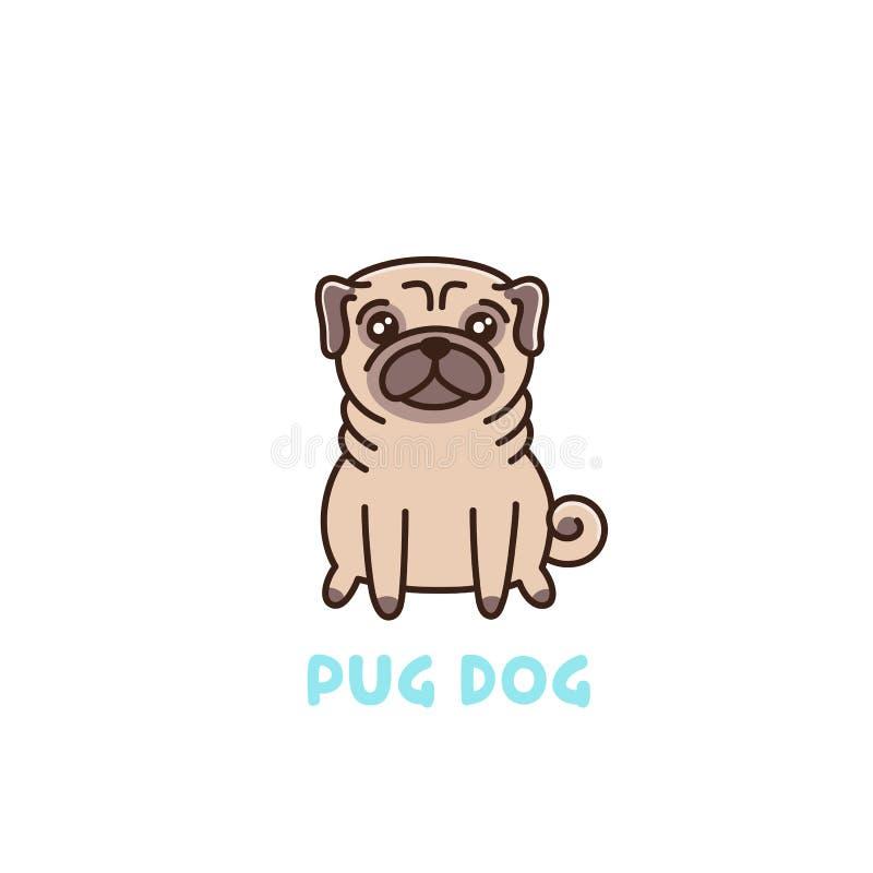 哈巴狗品种逗人喜爱的狗  向量例证