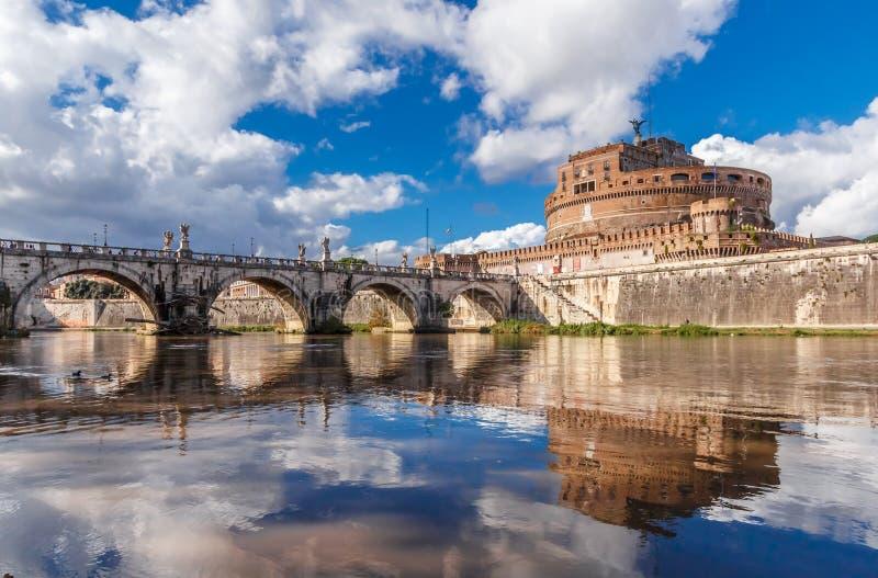 哈德良陵墓,圣天使城堡看法在罗马,意大利 库存图片