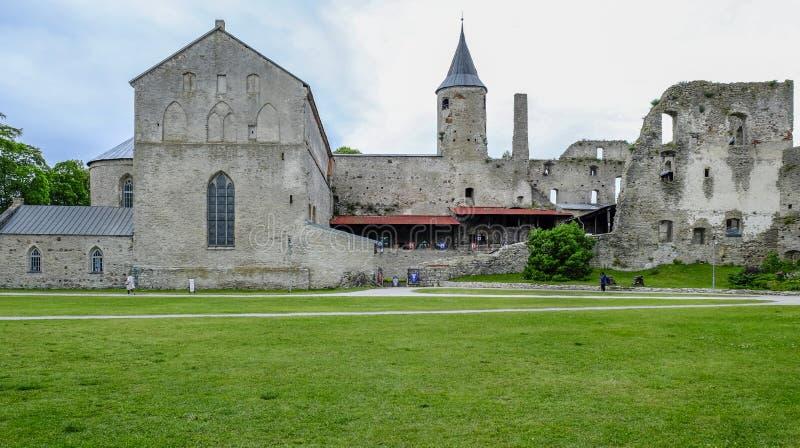 哈普沙卢,爱沙尼亚,欧洲,堡垒 免版税库存照片