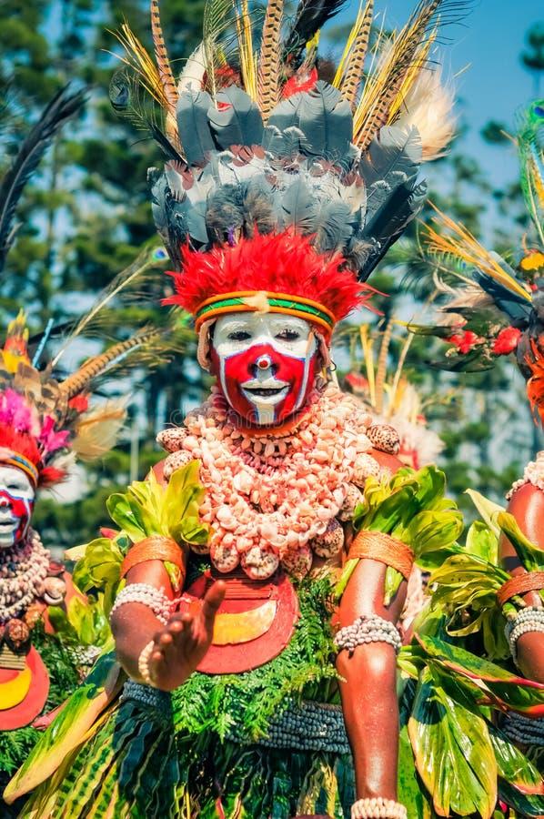 哈根展示的妇女在巴布亚新几内亚 免版税库存照片