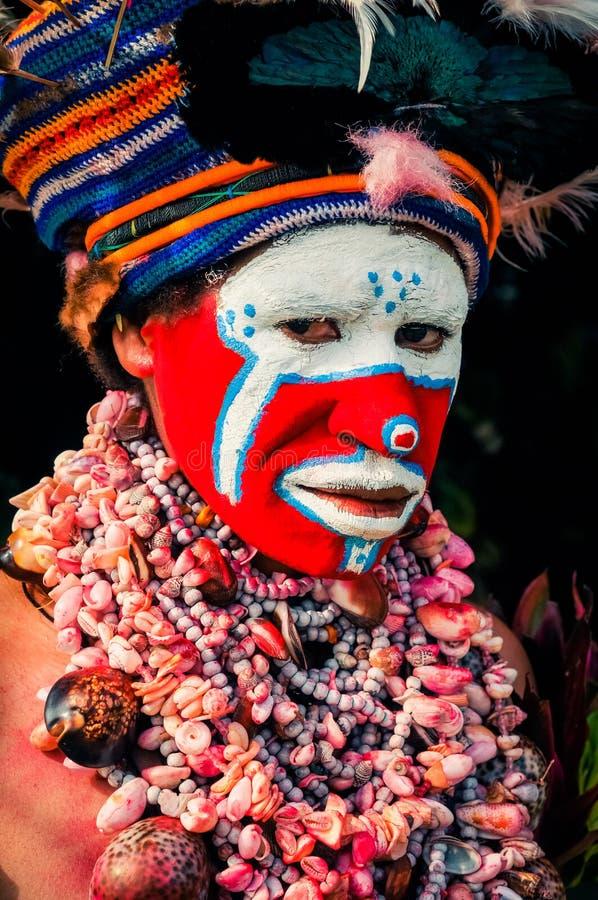 哈根展示的妇女在巴布亚新几内亚 库存照片