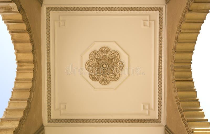 哈桑二世清真寺建筑细节在卡萨布兰卡,摩洛哥 库存图片