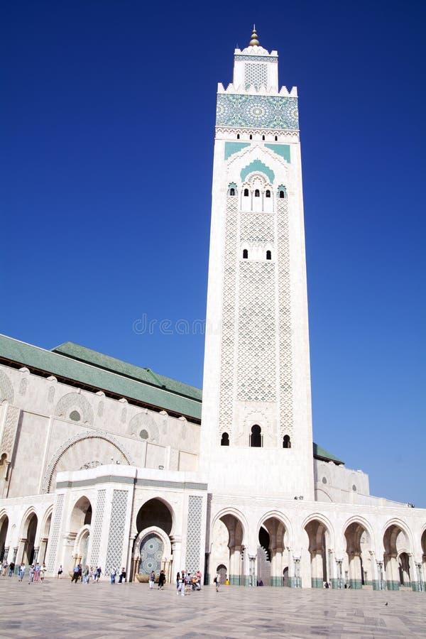 哈桑二世清真寺-卡萨布兰卡-摩洛哥 图库摄影