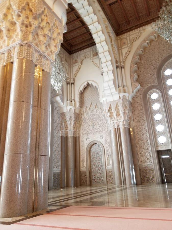 哈桑二世清真寺-美好的建筑学和装饰细节 免版税图库摄影