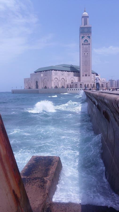 哈桑二世mosquée 库存图片