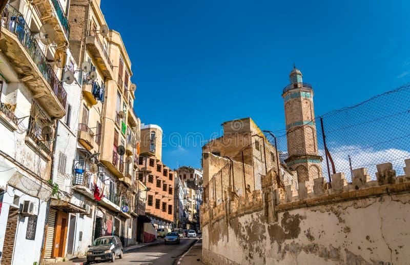 哈桑巴夏清真寺在奥兰,阿尔及利亚 免版税库存图片