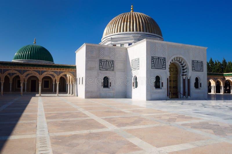 哈比卜・布尔吉巴陵墓主楼在莫纳斯蒂尔 库存照片