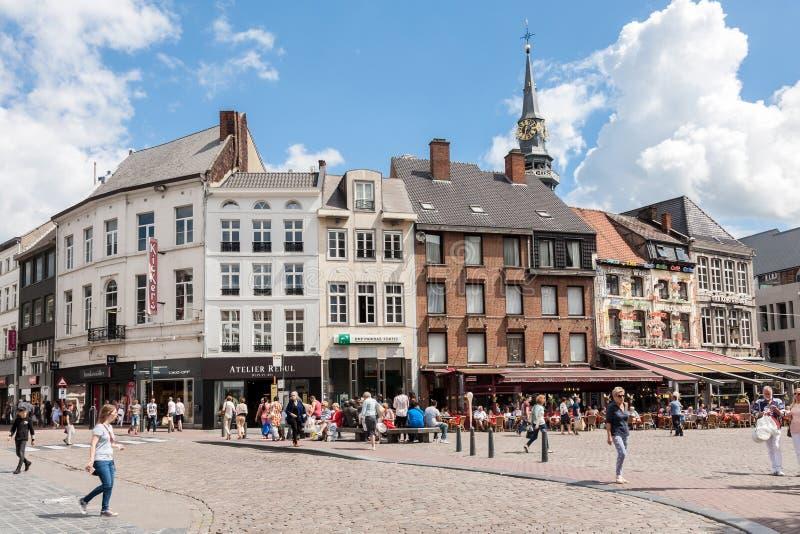 哈瑟尔特镇中心,比利时 免版税库存照片