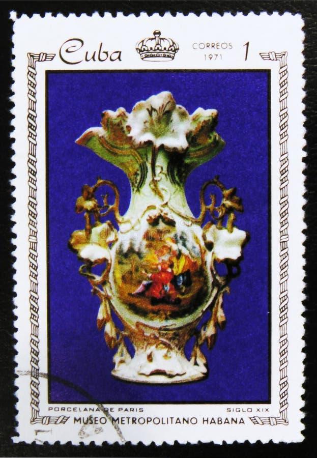哈瓦那、系列`瓷和马赛克在大都会博物馆,哈瓦那`大都会博物馆的珍宝,大约1971年 免版税库存图片