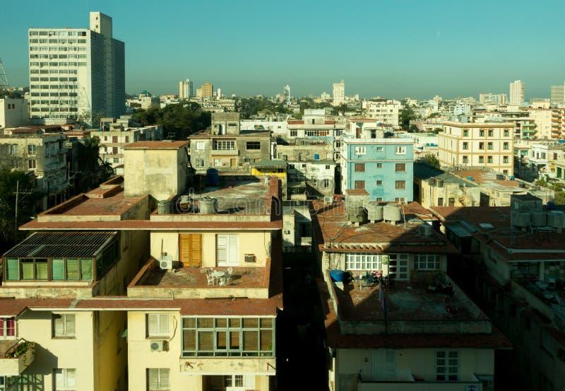 哈瓦那古巴的贝达多邻里的顶视图  库存照片