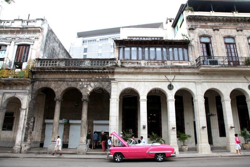 哈瓦那古巴经典之作汽车 免版税库存照片