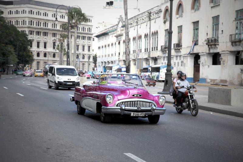 哈瓦那古巴经典之作汽车 免版税图库摄影