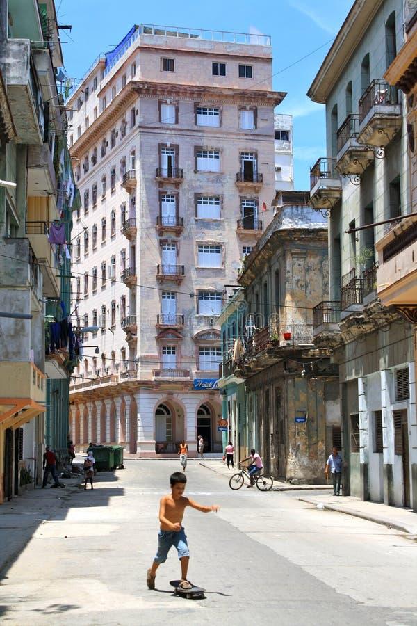 哈瓦那操场街道 免版税库存照片