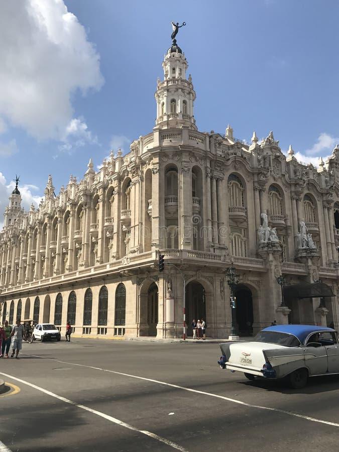 哈瓦那盛大剧院  免版税图库摄影