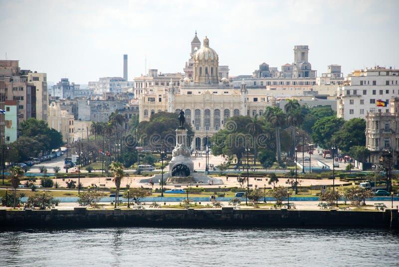 哈瓦那看法从El Morro堡垒的 免版税库存图片