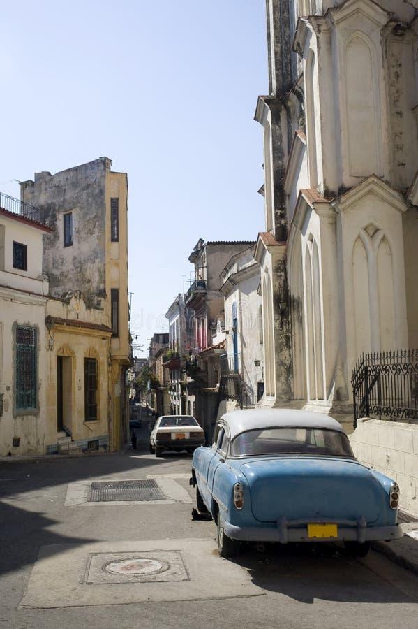 哈瓦那缩小的街道 库存图片