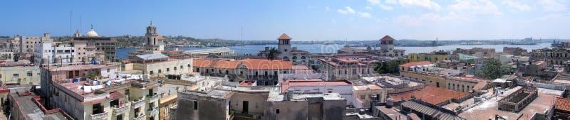哈瓦那老全景 免版税库存照片