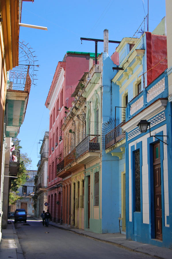 哈瓦那老街道 库存图片