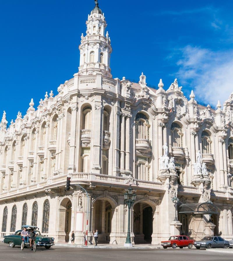 哈瓦那艾丽西亚阿隆索巨大剧院在古巴 著名剧院 库存照片