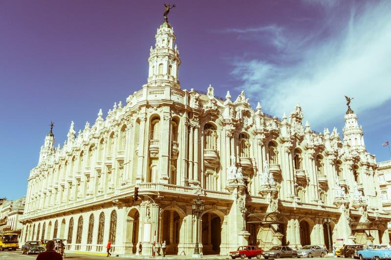 哈瓦那艾丽西亚阿隆索巨大剧院在古巴 著名剧院 库存图片