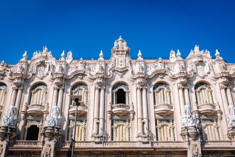 哈瓦那艾丽西亚阿隆索巨大剧院  库存图片
