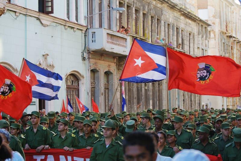 哈瓦那行军 免版税库存照片