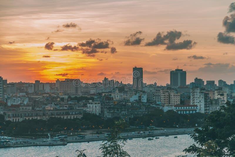 哈瓦那鸟瞰图  免版税库存图片