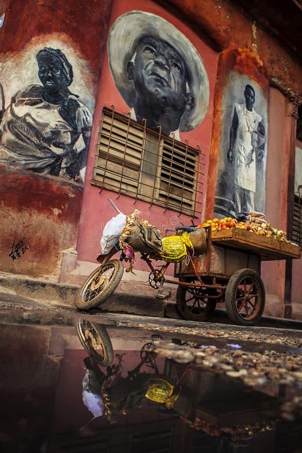 哈瓦那,一个艺术性的城市 库存照片