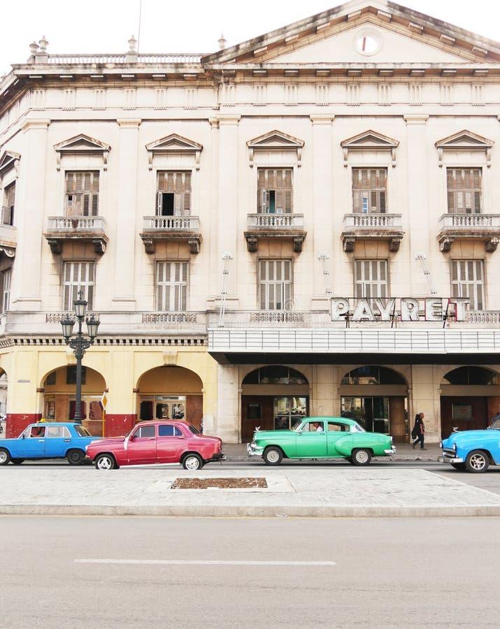 哈瓦那,古巴街道  图库摄影