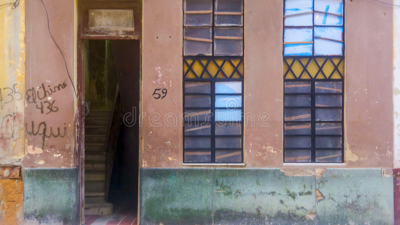 哈瓦那,古巴门面2 库存照片