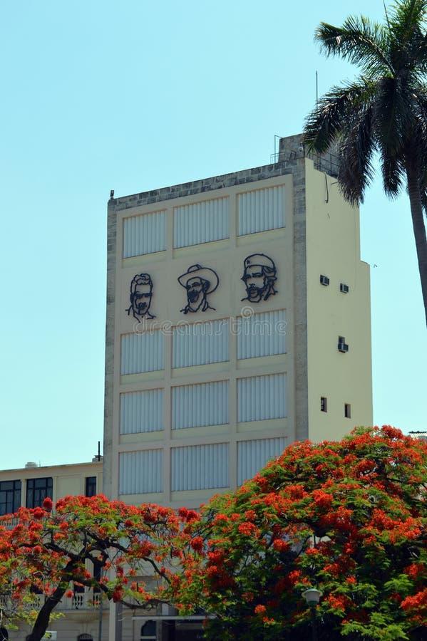 哈瓦那,古巴:古巴英雄壁画  库存图片